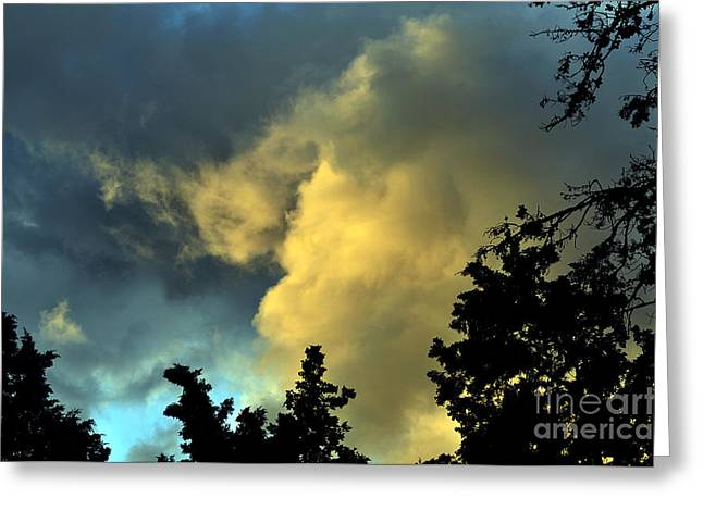 Coloring Clouds Greeting Card by Clayton Bruster