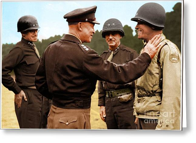 colorization WW2 Eisenhower Greeting Card by John Wills