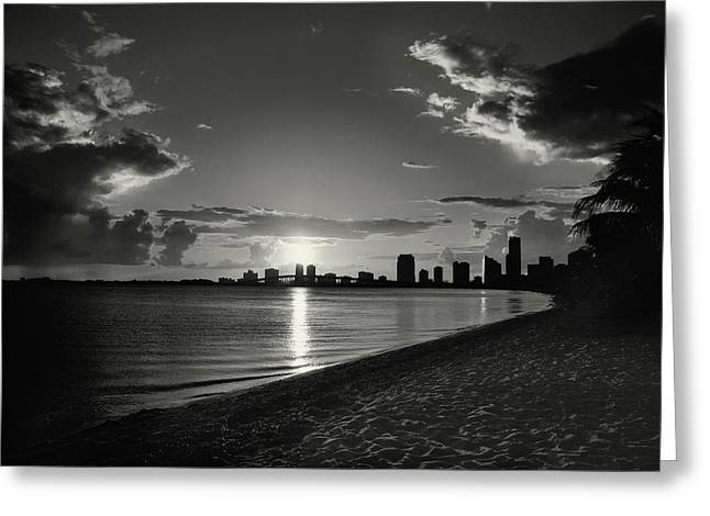Colorless Sunset Greeting Card
