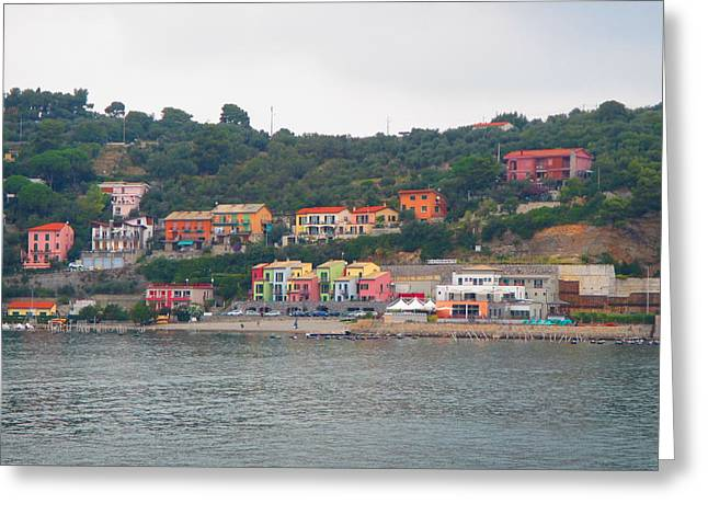 Colors Along The Coast Greeting Card