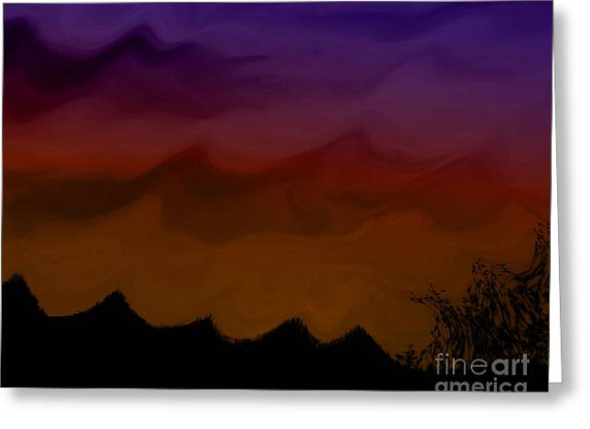 Colors At Dusk Greeting Card