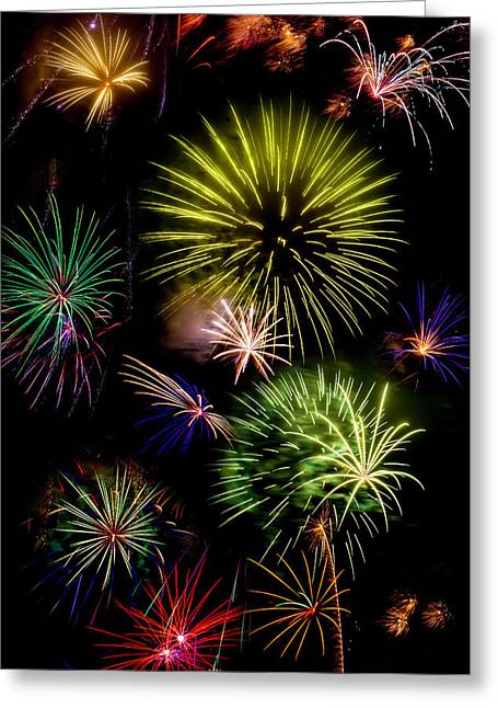 Colors Exploding Over Heard Greeting Card