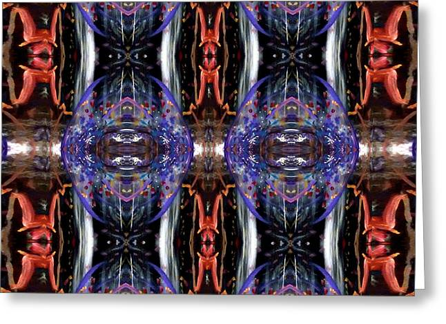 Greeting Card featuring the digital art Colors Eye 5 by Michelle Audas