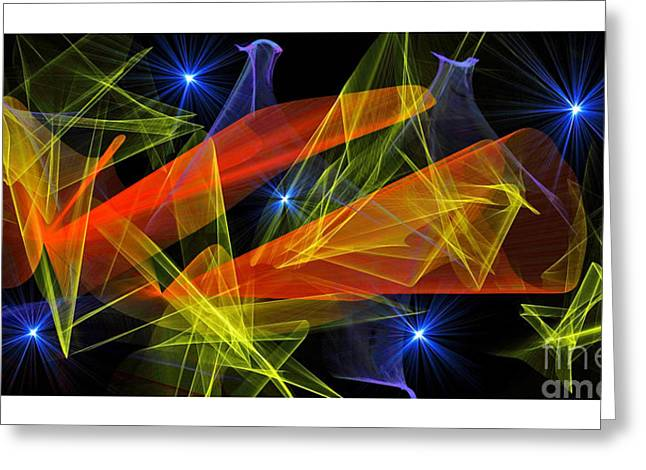 Colors In Motion X Greeting Card by Jim Fitzpatrick
