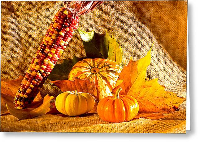 Colors Of Autumn Greeting Card by Naman Imagery