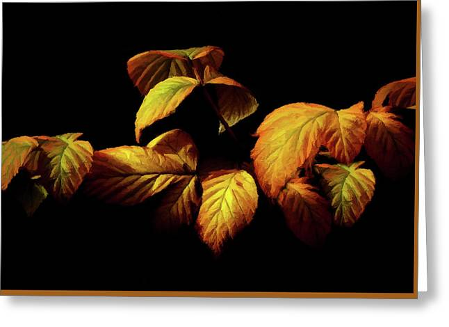Greeting Card featuring the painting Colors Of Autumn Memories  by David Dehner