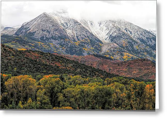 Colors Of Autumn On Mcclure Pass Greeting Card by Dan Sproul