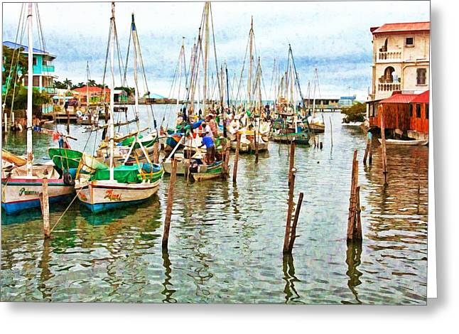 Colors Of Belize - Digital Paint Greeting Card