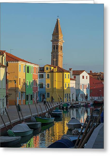 Colors Of Burano 1 Greeting Card by Art Ferrier