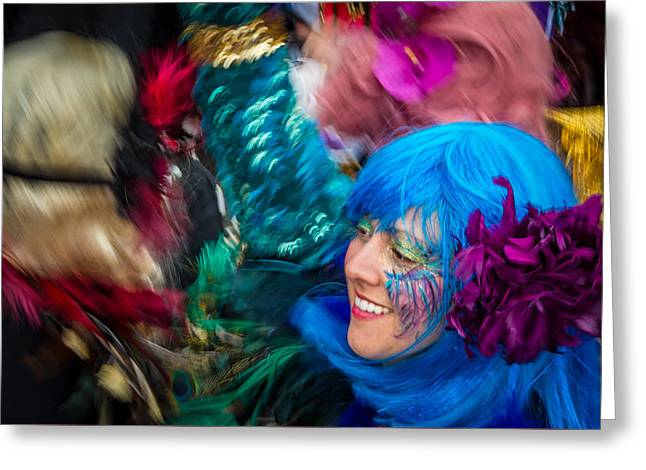 Colors Of Carnival Greeting Card