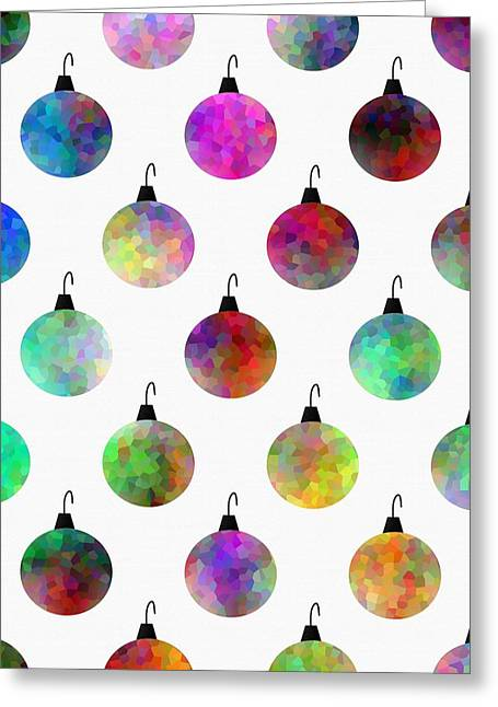 Colors Of Christmas Greeting Card by Kathleen Sartoris