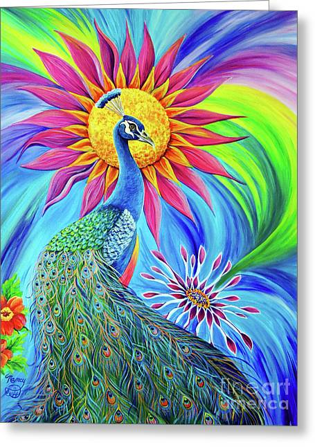 Greeting Card featuring the painting Colors Of His Splendor by Nancy Cupp