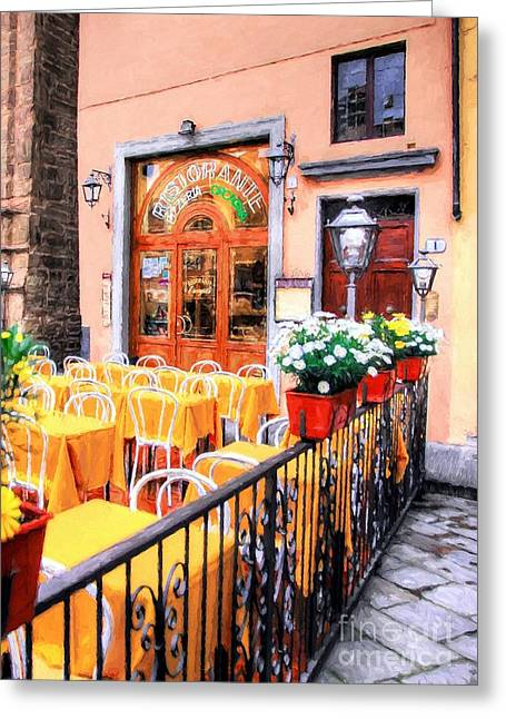 Colors Of Italy # 5 Greeting Card by Mel Steinhauer
