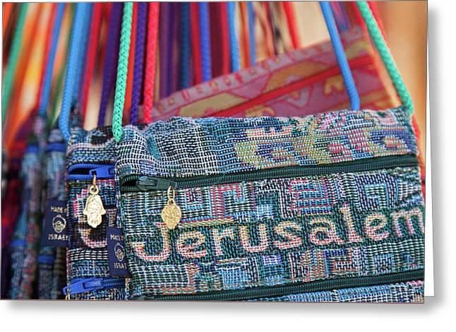 Colors Of Jerusalem Greeting Card by Yoel Koskas
