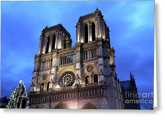 Colors Of Notre Dame De Paris Greeting Card by John Rizzuto