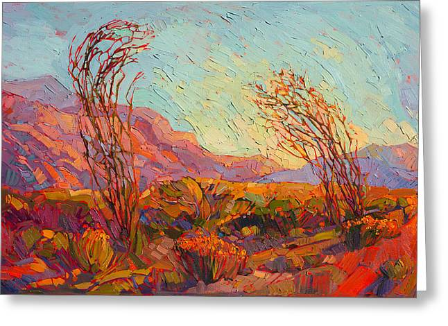 Colors Of Ocotillo Greeting Card