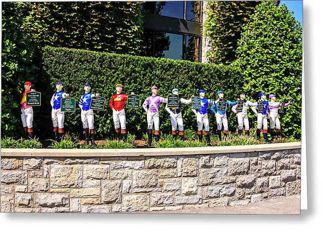 Colors Of Past Stakes At Keeneland Ky Greeting Card by Chris Smith