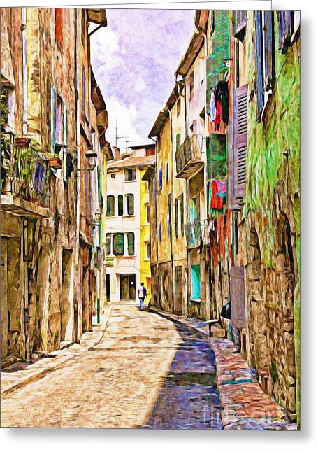 Colors Of Provence, France Greeting Card