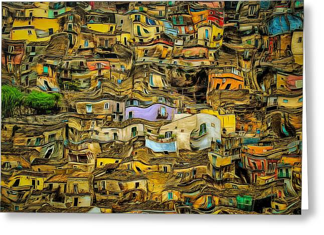 Colors Of Sicily Greeting Card