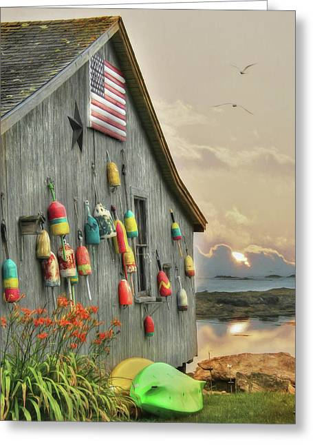 Colors Of Southport Greeting Card by Lori Deiter