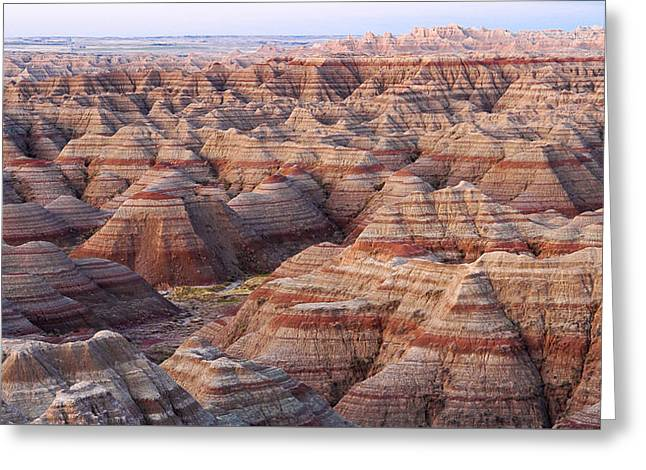 Colors Of The Badlands Greeting Card by Monte Stevens