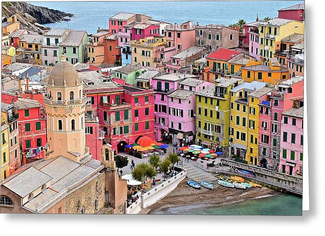 Colors Of The Cinque Terre Greeting Card