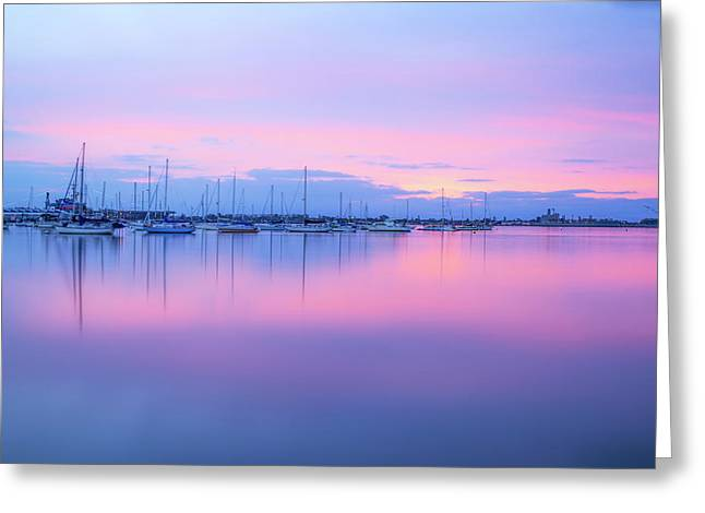 Colors Of The Harbor Greeting Card