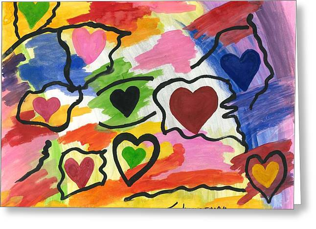 Colors Of The Heart Greeting Card