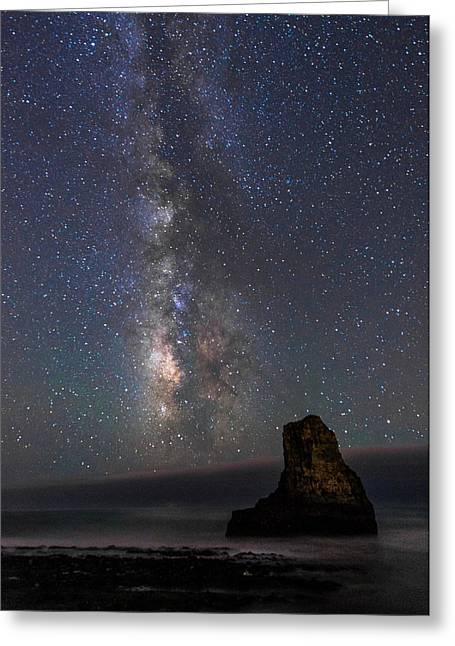 Greeting Card featuring the photograph Colors Of The Night by Alex Lapidus