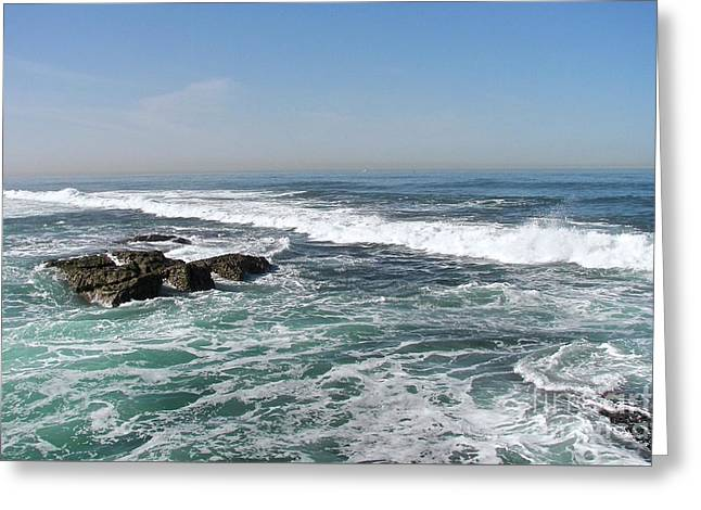 Greeting Card featuring the photograph Colors Of The Sea by Carol  Bradley