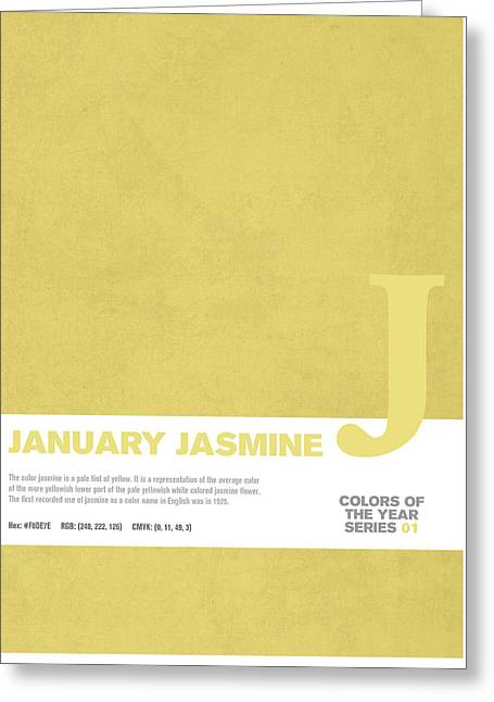 Colors Of The Year Series 01 Graphic Design January Jasmine  Greeting Card by Design Turnpike