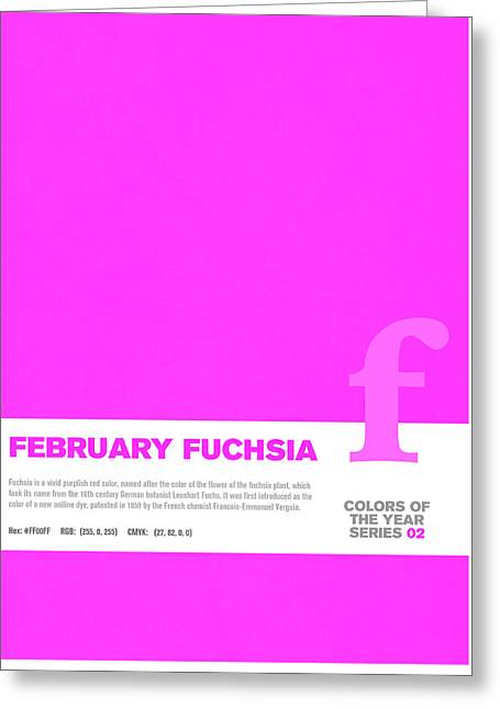 Colors Of The Year Series 02 Graphic Design February Fuchsia Greeting Card