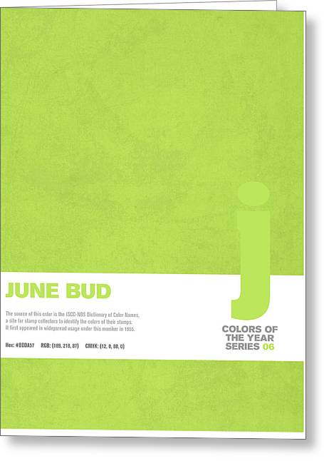 Colors Of The Year Series 06 Graphic Design June Bud Greeting Card by Design Turnpike