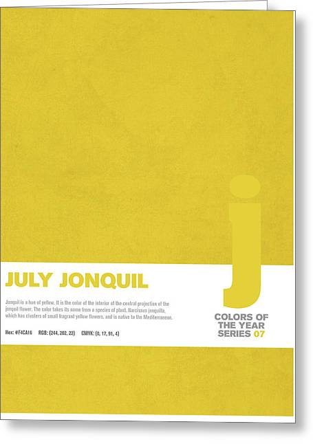 Colors Of The Year Series 07 Graphic Design July Jonquil Greeting Card by Design Turnpike