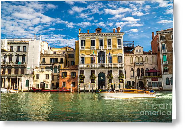 Colors Of Venice - Italy Greeting Card