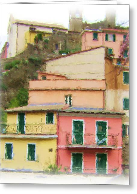 Colors Of Vernazza Greeting Card