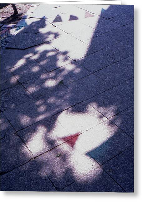 Colors On The Shadows Greeting Card