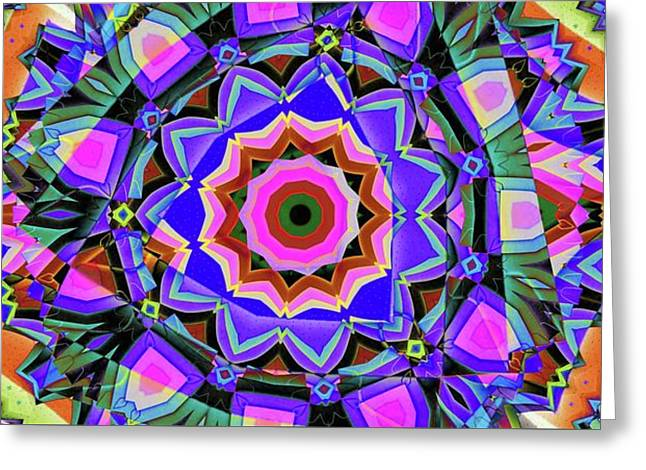 Greeting Card featuring the digital art Colors O're Laid by Ron Bissett