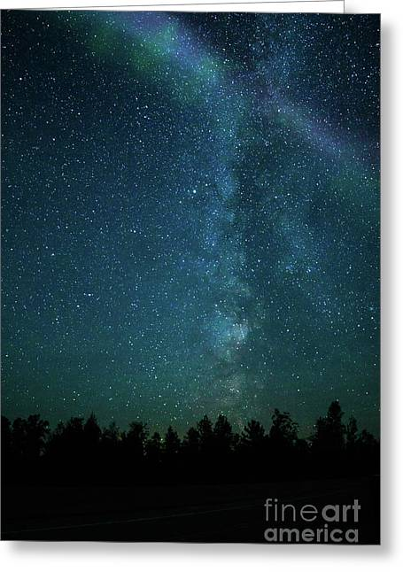 Colors Over The Milky Way Greeting Card