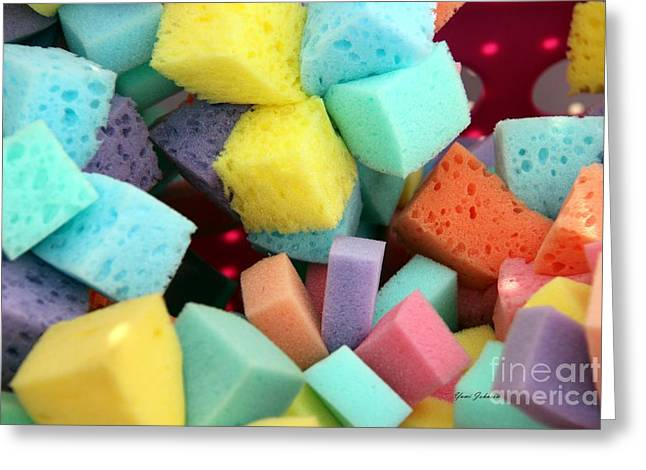 Colors Sponges Greeting Card by Yumi Johnson