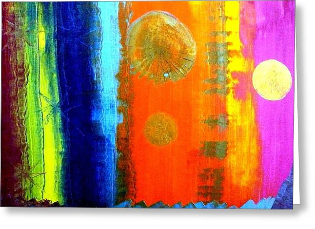 Greeting Card featuring the painting Colorz 1 by Piety Dsilva