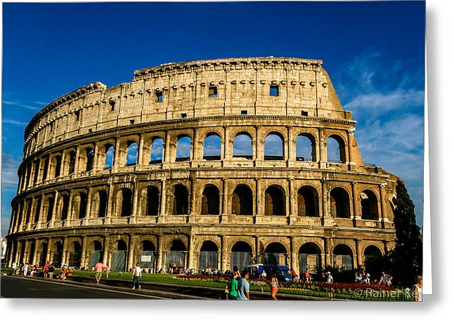 Colosseo Roma Greeting Card