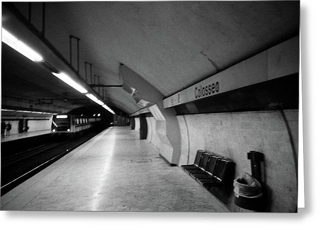 Colosseo Station Greeting Card