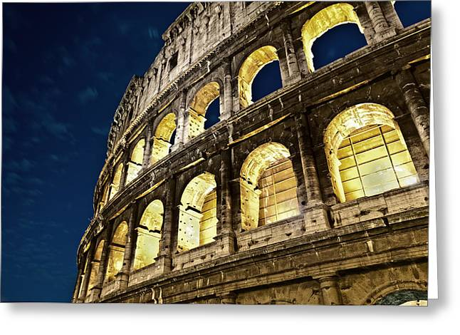 Colosseum Greeting Card by Brian Bonham