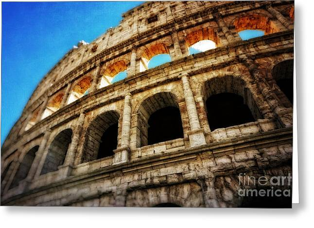 Colosseum Greeting Card by HD Connelly
