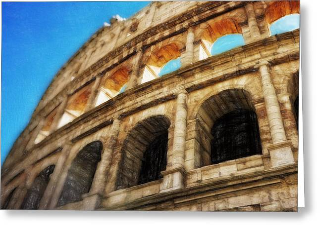 Colosseum II Greeting Card by HD Connelly