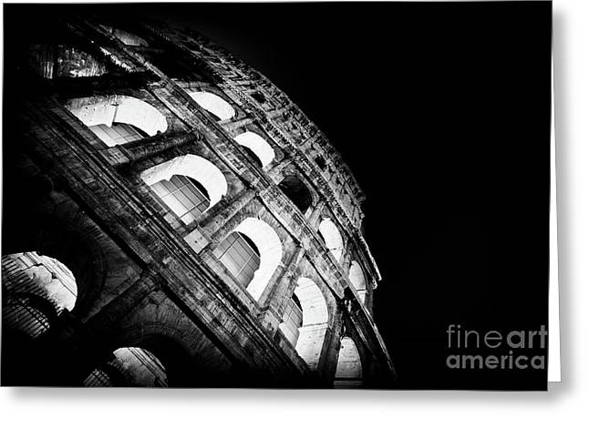 Colosseum In Rome By Night Greeting Card