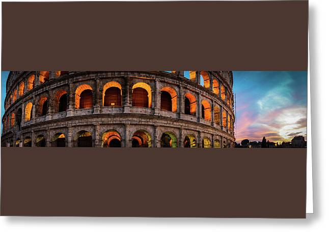 Colosseum In Rome, Italy Greeting Card