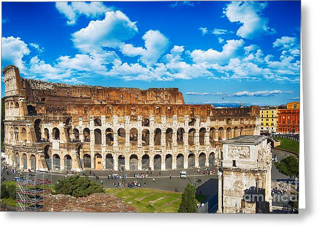 Colosseum Landscape Greeting Card by Stefano Senise