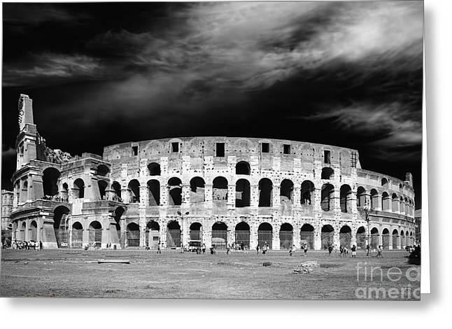 Colosseum Monochrome Greeting Card by Stefano Senise